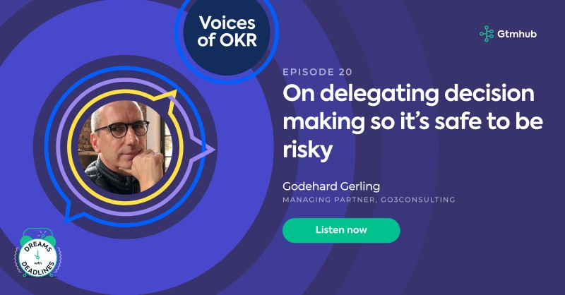 On delegating decision making so it's safe to be risky